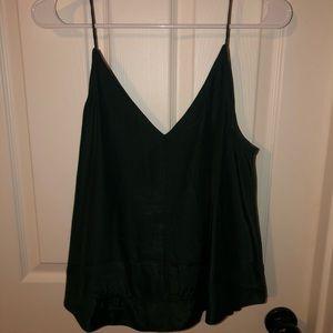 Lulu's Emerald Green Silk Tank Top!!